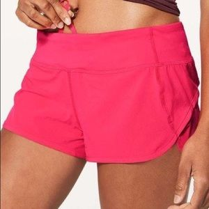 Lululemon Pink Speed Up Short 2.5""